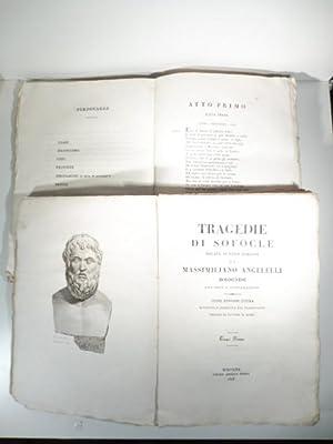 Tragedie di Sofocle recate in versi italiani: SOFOCLE, ANGELELLI Massimiliano