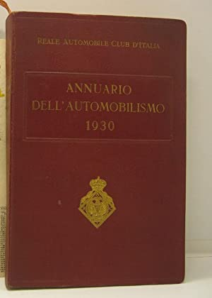 Annuario dell'automobilismo 1930