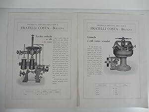 Premiata officina meccanica Fratelli Costa, Bologna: Anonimo