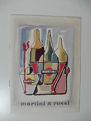 Martini & Rossi. Libretto pubblicitario: Anonimo