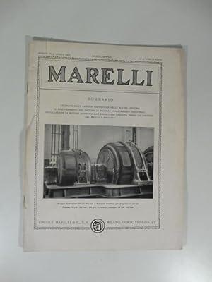 Marelli. Rivista mensile, num. 4, aprile 1928.: Anonimo