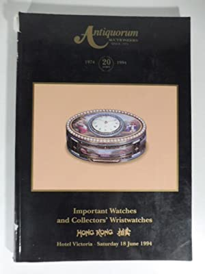 Antiquorum Auctioneers. Important collectors'watches and wristwatches the property of various own...