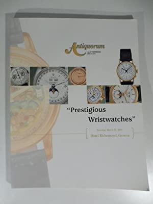 Antiquorum Auctioneers. Montres - Bracelets de prestige appartenent a divers amateurs. Hotel Rich...