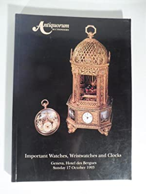 Antiquorum Auctioneers - Importantes montres de poche, montres-bracelet de collection et pendules...
