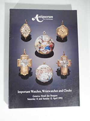 Antiquorum Auctioneers - Importantes montre de poche, montres-bracelet de collection et pendules....