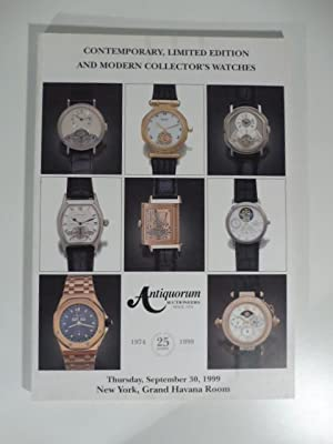 Antiquorum Auctioneers - Contemporary, limited edition and modern collector's watches property of...