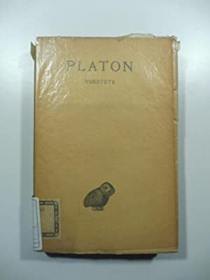 Platon. Oeuvres completes. Tome VIII - 2 parte Theetete