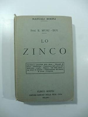 Lo Zinco. Caratteri e proprieta' dello zinco: MUSU-BOY