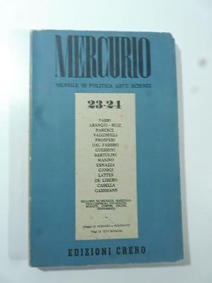 Mercurio. Mensile di politica, arte, scienze N.: AA.VV.