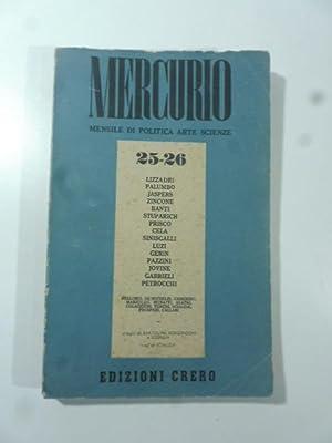 Mercurio. Mensile di politica, arte, scienze. N.: AA.VV.