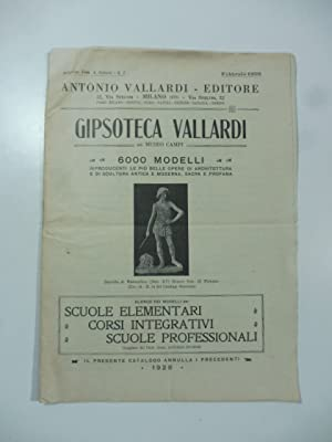 Gipsoteca Vallardi. Gia' museo Campi. 6000 modelli: Anonimo