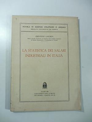 La statistica dei salari industriali in Italia: LASORSA Giovanni