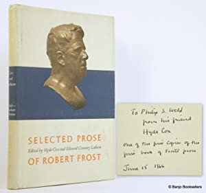 Selected Prose of Robert Frost: Frost, Robert; Cox,