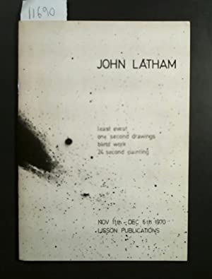 John Latham least event one second drawings blind work 24 second printing