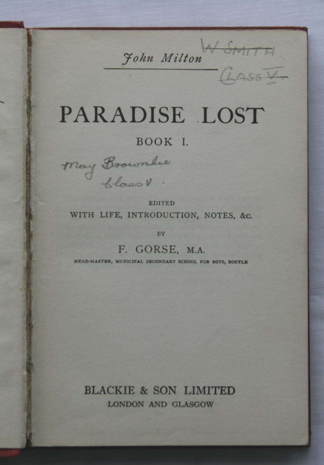 paradise lost and the life of john milton Keywords: john milton, paradise lost, early modern cartography, bible  social,  and political life among the english elite — facilitating not just.