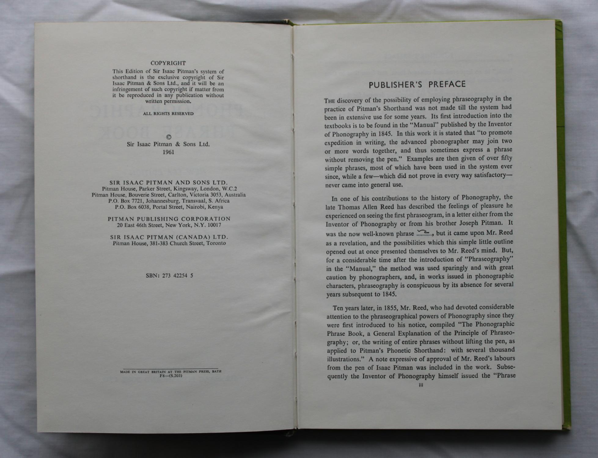 The New Phonographic Phrase Book : New Era Edition (Pitman): Isaac Pitman & Emily D. Smith