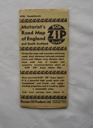 Motorist's Road Map of England and South Scotland