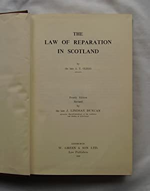 The Law of Reparation in Scotland: A. T. Glegg
