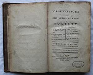 Observations Concerning the Distinction of Ranks in Society: John Millar