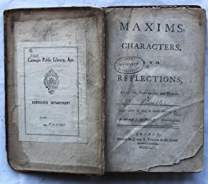 Maxims, Characters, and Reflections, Critical, Satyrical and Moral: F. Greville