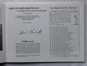 One Up And One To Go : A Nostalgic Look at Classic Scottish Golf - SIGNED COPY: Stuart Marshall