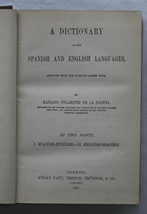 A Dictionary of the Spanish and English Languages : Abridged from the Author's Larger Work: ...