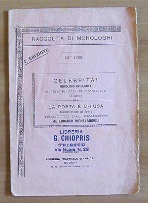 Raccolta di Monologhi N.108 del 1911 -: YAMBO (Enrico Novelli)