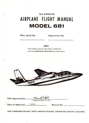 FAA Approved Airplane Flight Manual Model 681 Hawk Commander: Aero Commander Division, North ...
