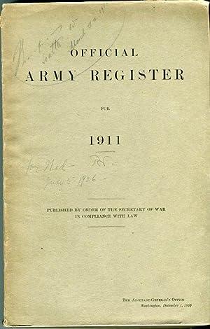Official Army Register for 1911 (War Department Document 383): Adjutant General