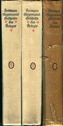 Herman Stegemanns Geschichte des Krieges, Bandes 1-3 (of 4) (Hermann Stegemann's History of ...