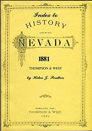 Thompson & West's History of Nevada 1881 and Biographical Sketches of Its Prominent Men and...
