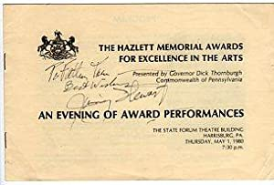 The Hazlett Memorial Awards for Excellence in the Arts Presented by Governor Dick Thornburgh, ...