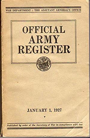 Official Army Register, January 1, 1927: Adjutant General