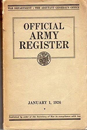 Official Army Register, January 1, 1926 (War Department Document 4a): Adjutant General