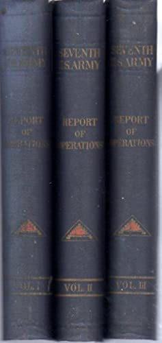 The Seventh United States Army Report of Operations France and Germany 1944-1945, 3 volumes (...