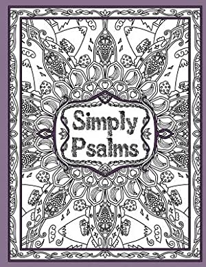 Simply Psalms: A Christian Adult Coloring Book: Threlfall, Keren A.
