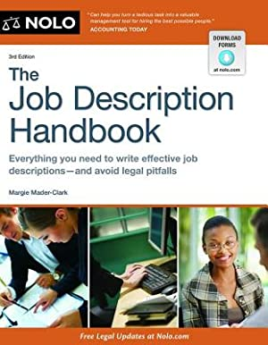 The Job Description Handbook (Paperback or Softback): Mader-Clark, Margie