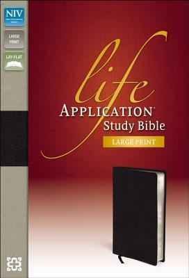 Life Application Study Bible-NIV-Large Print (Leather /: Zondervan