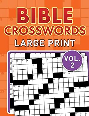 Bible Crosswords Large Print Vol. 2 (Paperback: Compiled by Barbour