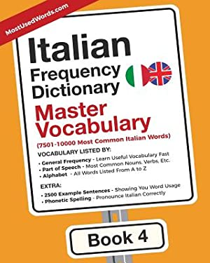Italian Frequency Dictionary - Master Vocabulary: 7501-10000: Mostusedwords