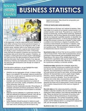 Business Statistics (Speedy Study Guides) (Paperback or: Speedy Publishing LLC
