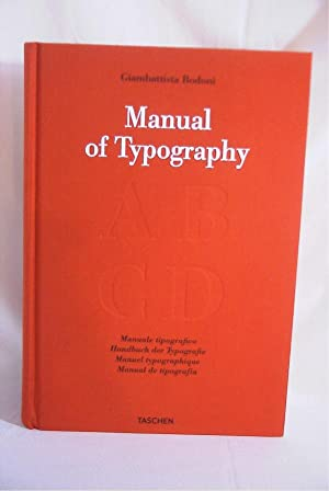Manual of Typography: Manuale Tipografico 1818