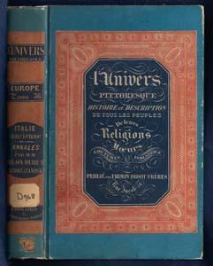 Italie Ancienne. Premier Partie. Annales. l'Univers Pittoresque Histoire et Description De ...