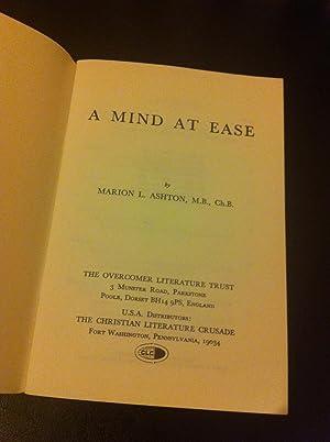 A MIND AT EASE.: ASHTON, M.L.