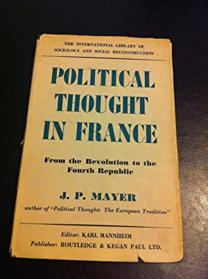Political Thought in France