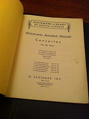 CONCERTO NO2 OP40 IN D MINOR 2 PIANOS 4 HANDS SCORE       TWO COPIES NEEDED TO PERFORM (Schirmer's Library of Musical Classics)