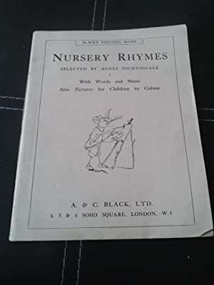 NURSERY RHYMES With Words and Music Also: NIGHTINGALE, Agnes (editor)