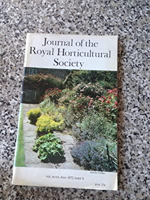 Journal of the Royal Horticultural Society Vol.: Royal Horticultural Society