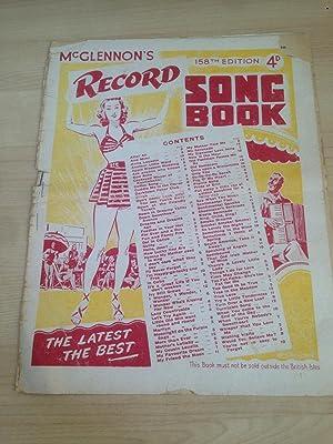 McGlennon ?s Record Song Book 158th Edition: McGlennon, Felix