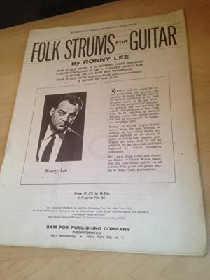Folk strums for guitar: An instruction manual: Lee, Ronny